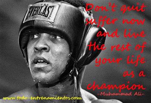 muhammad Ali todo entrenamientos