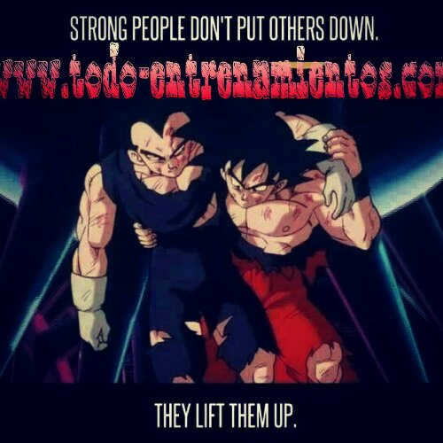 Strong people don't put others down. They lift them up