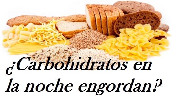 Mito carbohidratos por la noche engordan todoentrenamientos - Alimentos que engordan por la noche ...